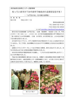 知っていますか?みやま市で栽培される多彩な花々を!