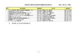 定期巡回・随時対応型訪問介護看護(鹿児島市内) 指定一覧(H27.10.1