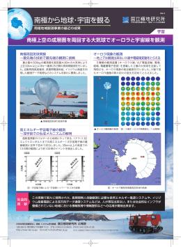 南極上空の成層圏を周回する大気球でオーロラと宇宙