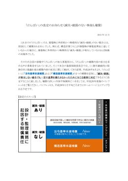 「けんばい」の改定のお知らせ(滅失・破損のない事故も補償)
