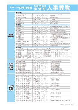 [4ページ] 平成26年度東浦町人事異動(PDF:118KB)