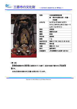 名称 木造地蔵菩薩坐像 附 飛天付透彫光背・天蓋・ 木造窟