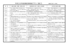 平成26年度授業改善推進プラン【図工】 青梅市立第一小学校
