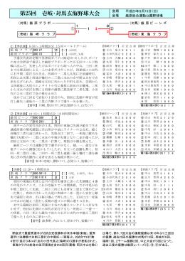 第25回 壱岐・対馬玄海野球大会