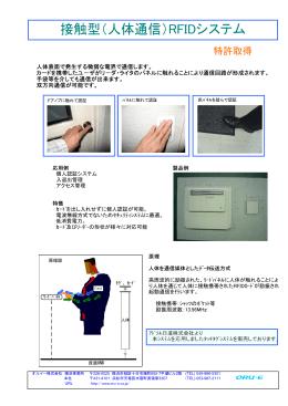 接触型(人体通信)RFIDシステム ム
