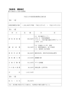 【会派名 創政会】