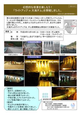 幻想的な夜景を楽しもう! 「ライトアップ in 大滝ダム」を開催しました。