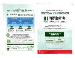 経営革新とさらなる成長を実現!「課題解決プラットフォームTAMA(PDF