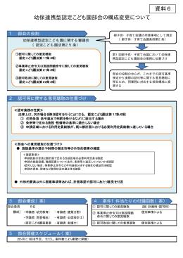 資料 6 幼保連携型認定こども園部会の構成変更について(PDF:20KB)