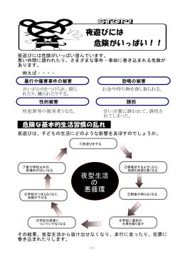夜遊びには 危険がいっぱい!!