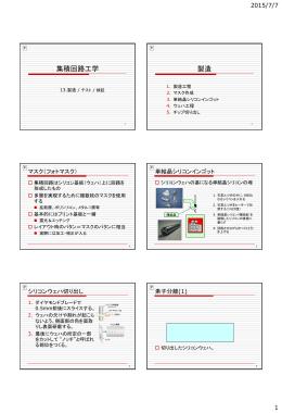 製造 / テスト / 検証