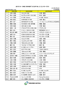 2015 N-ONE OWNER`S CUP 第2戦