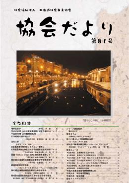 『雪あかりの路』(小樽運河) - 社会福祉法人 北海道社会事業協会