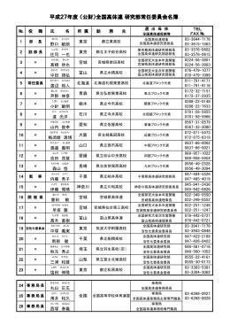 平成27年度 (公財)全国高体連 研究部常任委員会名簿