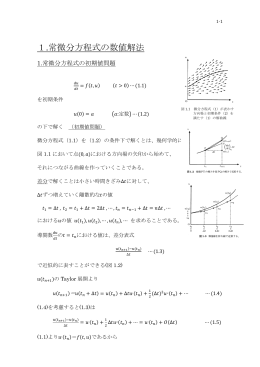 1.常微分方程式の数値解析