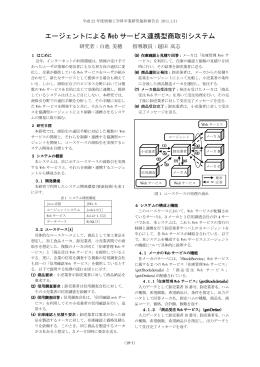 エージェントによる Web サービス連携型商取引システム