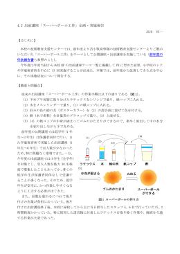 4.2 出前講座「スーパーボール工作」企画・実施報告