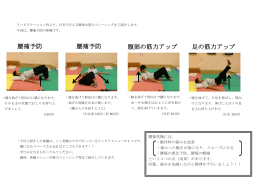 腰痛予防 腰痛予防 腹部の筋力アップ 足の筋力アップ