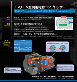 EV,HEV空調用電動コンプレッサー