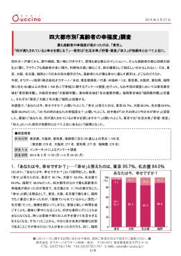 四大都市別「高齢者の幸福度」調査
