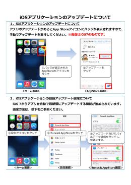 iOSアプリケーションのアップデートについて