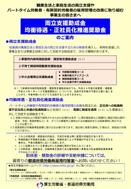 均衡待遇・正社員化推進奨励金 支給申請の手引き