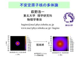 講義ノート1「中性子ハロー核の構造」