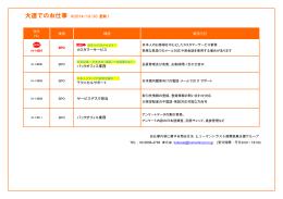 大連でのお仕事 ※2014/10/30 更新! カスタマー