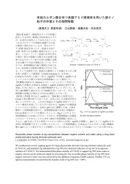 末端カルボン酸を持つ長鎖アミド誘導体を用いた銀ナノ 粒子の作製とその