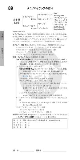 タニノハイクレアの2014