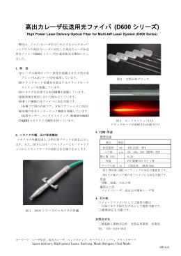 高出力レーザ伝送用光ファイバ(D600 シリーズ)(PDF)