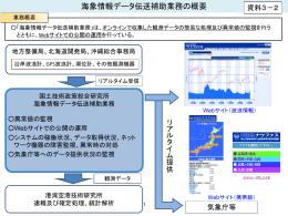 海象情報データ伝送補助業務の概要