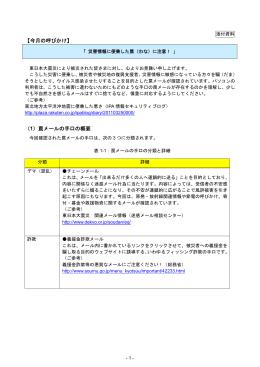 【今月の呼びかけ】 (1)罠メールの手口の概要