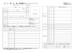 自 己 紹 介 書(琉球銀行エントリーシート)