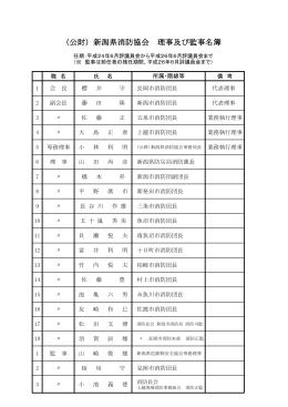 (公財)新潟県消防協会 理事及び監事名簿