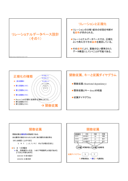 リレーショナルデータベース設計 (その1)