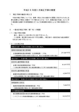 3月補正予算の概要 [30KB pdfファイル]