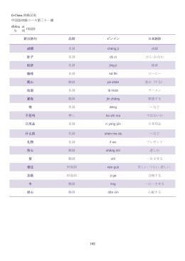 G-China 初級汉语 162 中国語初級コース第三十一課 shēnɡ 生 cí 词
