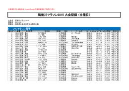 PDFデータ - 筑後川マラソン
