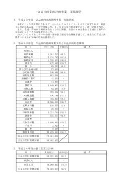 公益目的支出計画事業 実施報告(1ページ/約110KB)