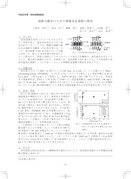 過酷分離系のための無機逆浸透膜の開発
