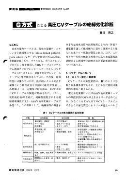 による高圧CVケーブルの絶縁劣化診断 - 公益社団法人 東京電気管理
