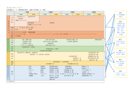 カリキュラム・マップ 初等教育コース〔教科教育専攻 図画工作専修(小