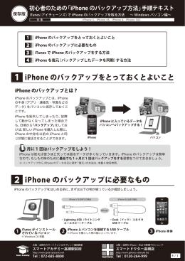 「iPhone のバックアップ方法」手順テキスト