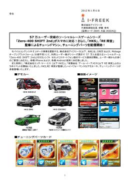 「Zero-400 SHIFT 2nd」がスマホに対応!さらに、「HKS」、「RE雨宮」