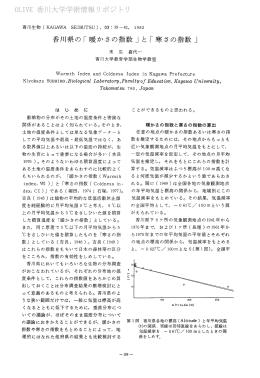 香川県の「暖かさの指数」 と「寒さの指数」