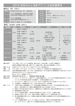 2016有田みかん海道マラソン大会開催要項