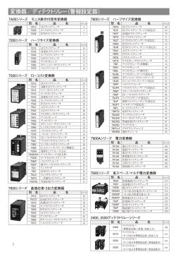 変換器/ディテクトリレー(警報設定器)