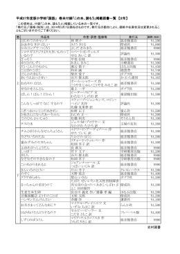 平成27年度版小学校「国語」 巻末付録「この本、読もう