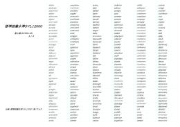 標準語彙水準SVL12000(LEVEL12)